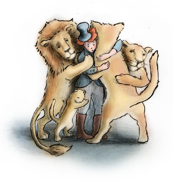 hugging-lion